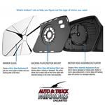 Mirror Glass + Adhesive for 13-18 Acura RDX Driv-4