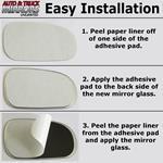 Mirror Glass + Full Adhesive for Ram 1500, 2500,-2
