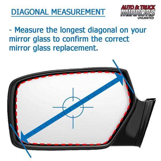 Mirror Glass for Hummer H3, H3T Passenger Side R-2