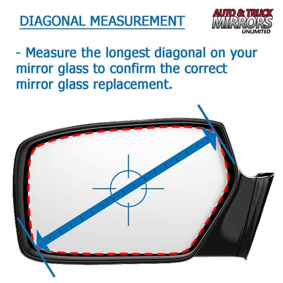 Mirror Glass Replacement + Full Adhesive for 02-4