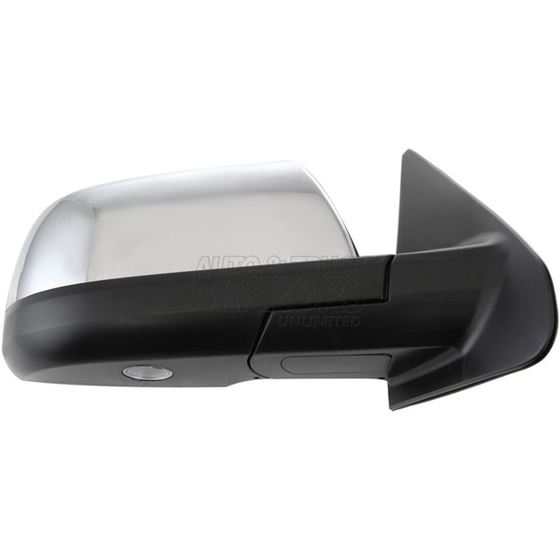08-11 Sequoia Limited//Platinum Puddle Lamp Passenger Side Chrome Power Folding Heated Mirror w//Signal Light Memory for 07-13 Toyota Tundra Limited