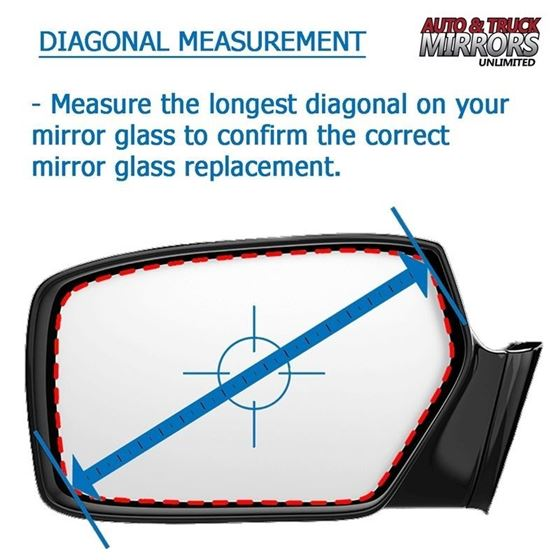 Mirror Glass Replacement + Full Adhesive for 96-4