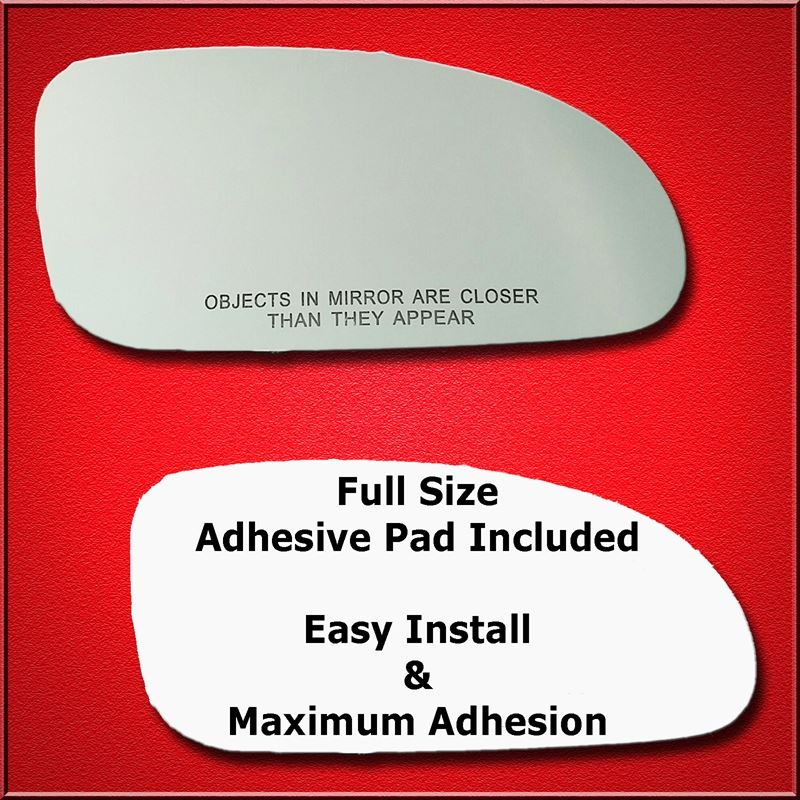 Mirror Glass Replacement + Full Adhesive for 00-05