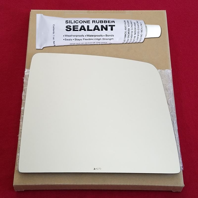 Mirror Glass Replacement + Silicone Adhesive for 2