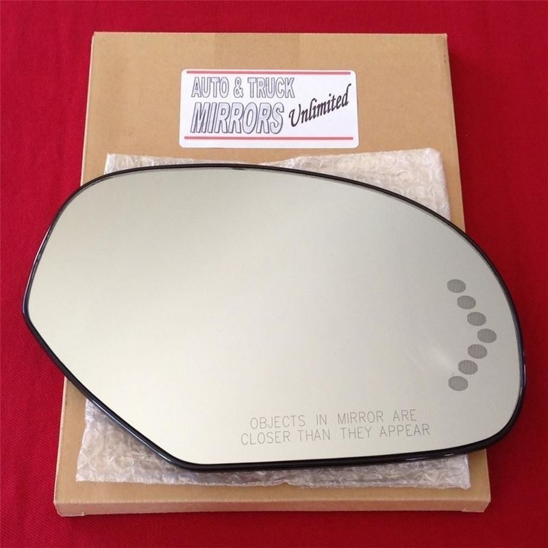 Fits 08-12 Chevy GMC Passenger Side Mirror Glass w