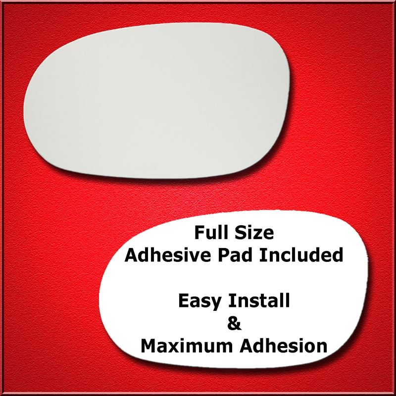 Mirror Glass Replacement + Full Adhesive for 08-18