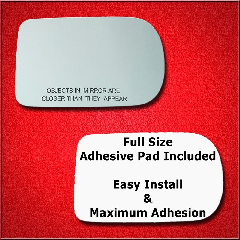 Mirror Glass Replacement + Full Adhesive for 95-01