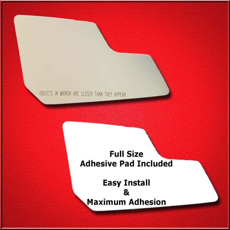 Mirror Glass Replacement + Full Adhesive for 10-16