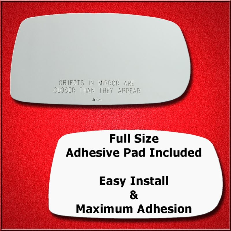 Mirror Glass Replacement + Full Adhesive for 10-17