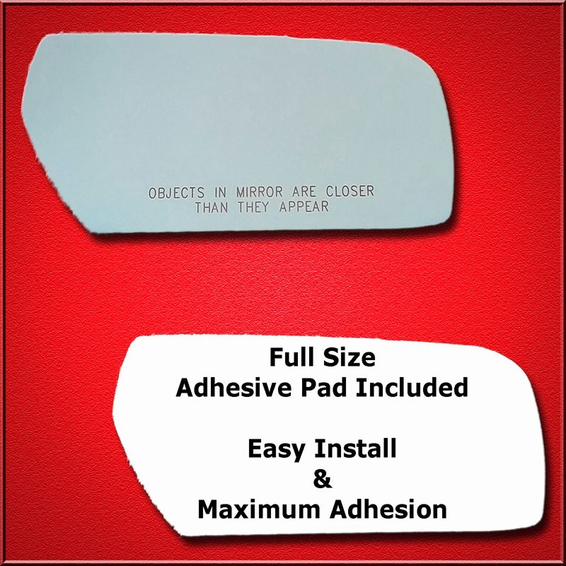Mirror Glass Replacement + Full Adhesive for Cadil