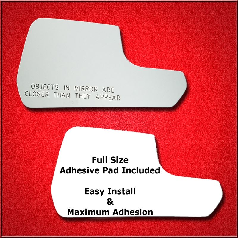 Mirror Glass Replacement + Full Adhesive for 15-18