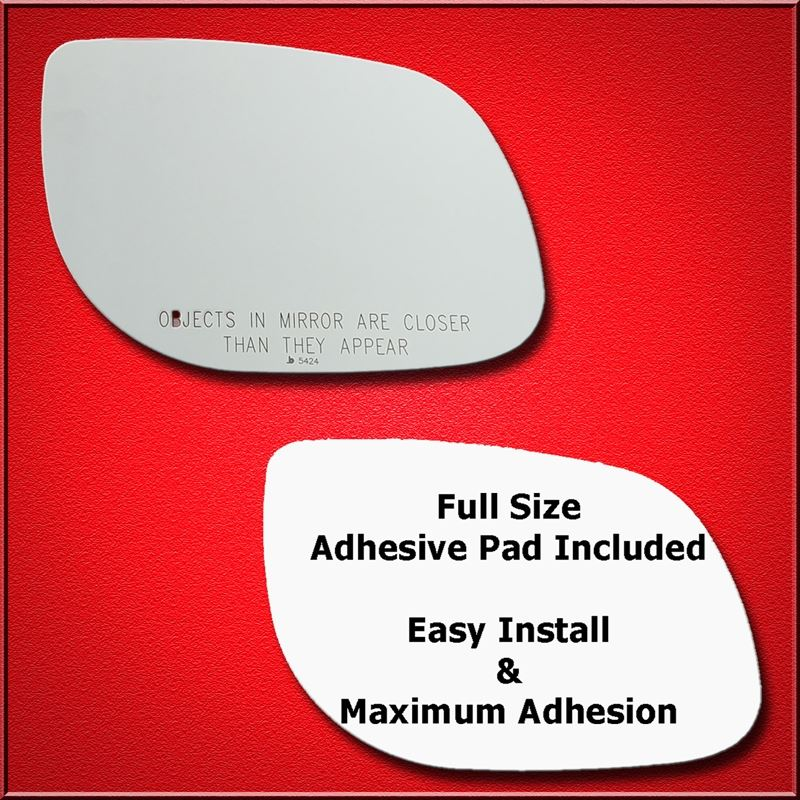 Mirror Glass Replacement + Full Adhesive for 10-10