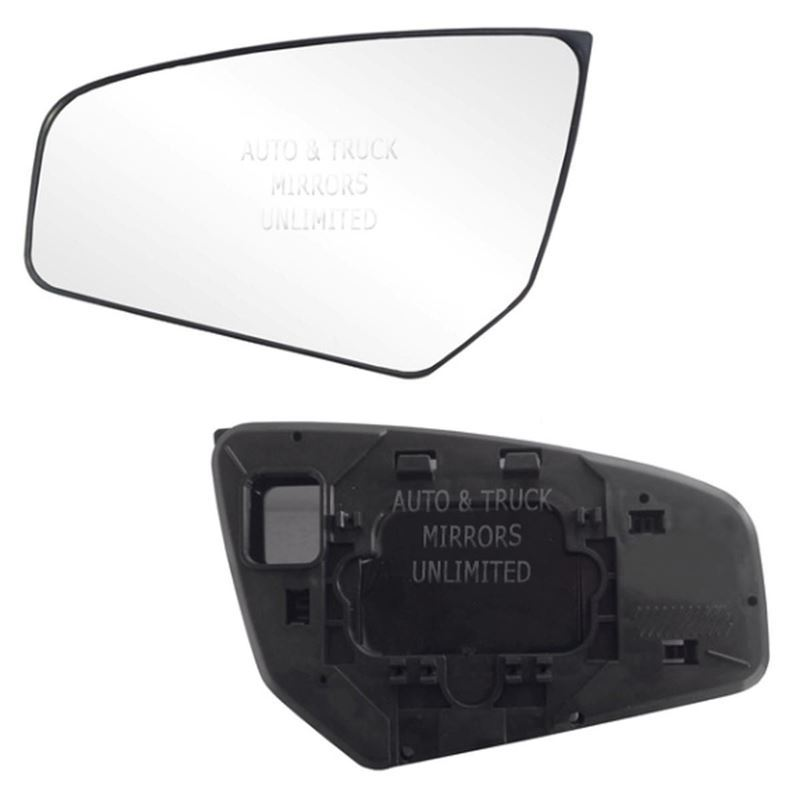 Fits 07-12 Sentra Driver Side Mirror Glass with Ba