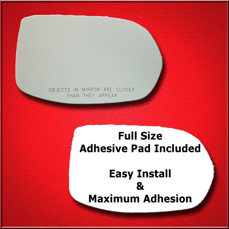 Mirror Glass Replacement + Full Adhesive for 12-17