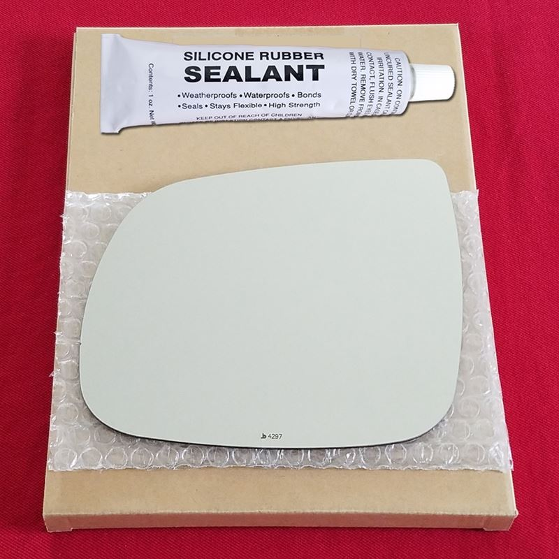 Mirror Glass Replacement + Silicone Adhesive for Q