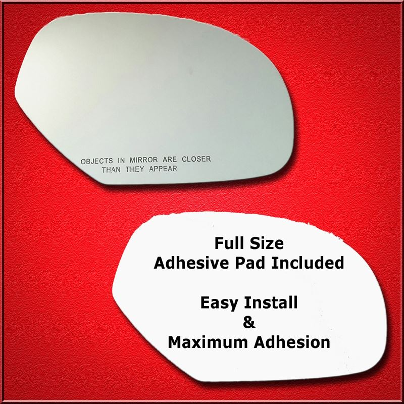 Mirror Glass Replacement + Full Adhesive for Silve