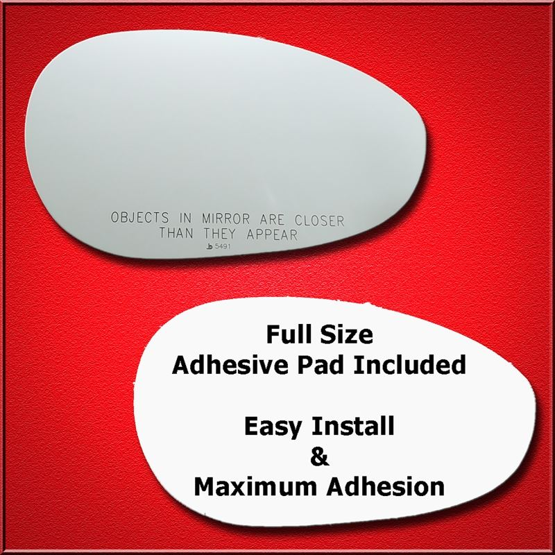 Mirror Glass + Full Adhesive for 12-18 Fiat 500 Pa