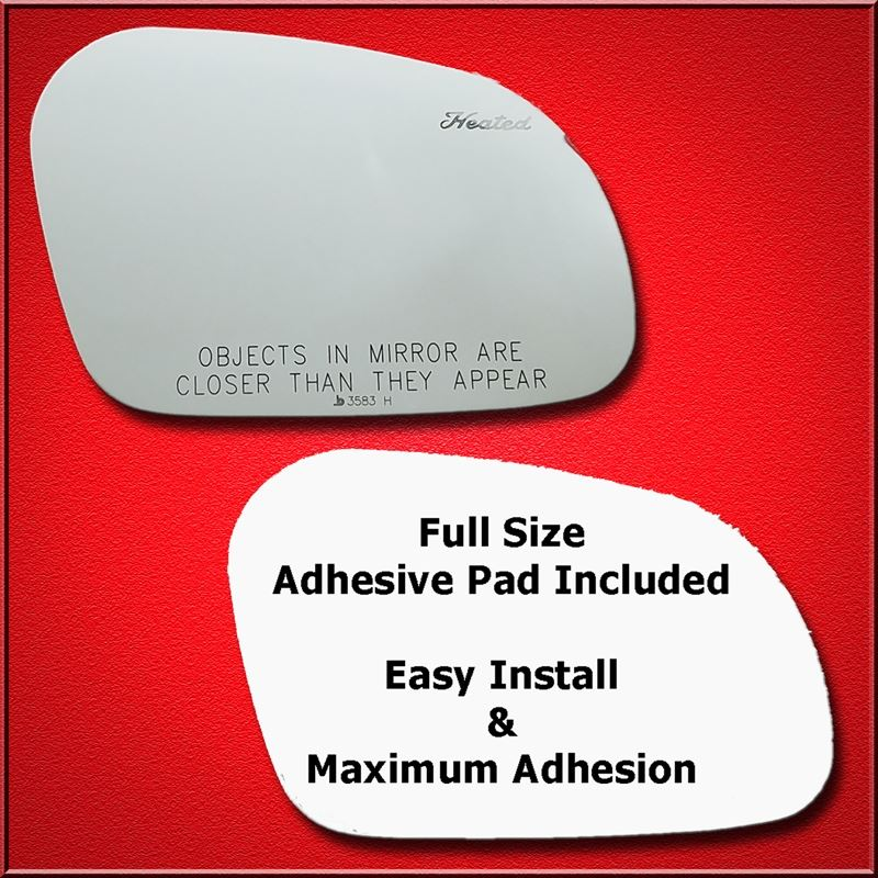Mirror Glass + Full Adhesive for 95-02 Lincoln Con