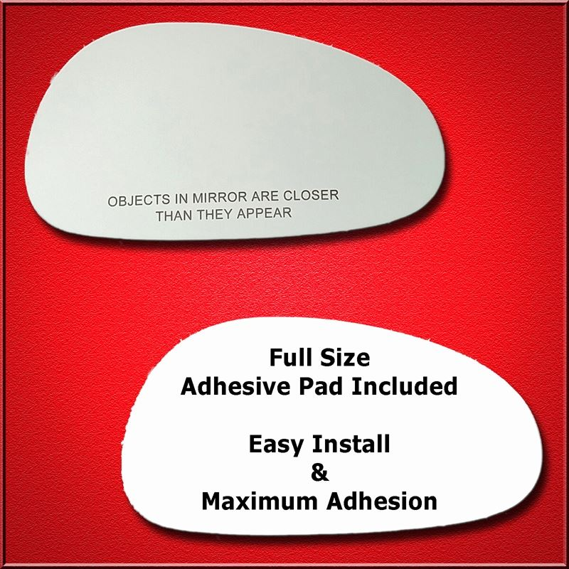 Mirror Glass Replacement + Full Adhesive for 94-04