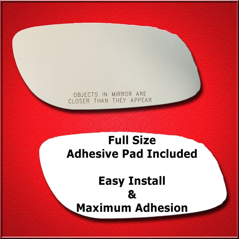 Mirror Glass Replacement + Full Adhesive for 10-14