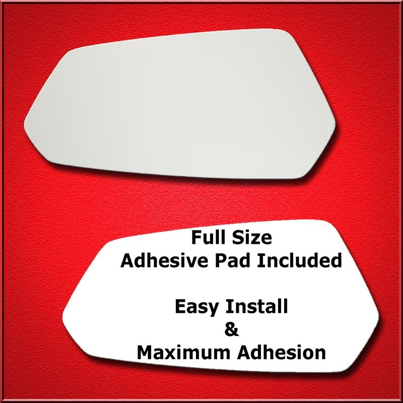 Mirror Glass Replacement + Full Adhesive for 10-15