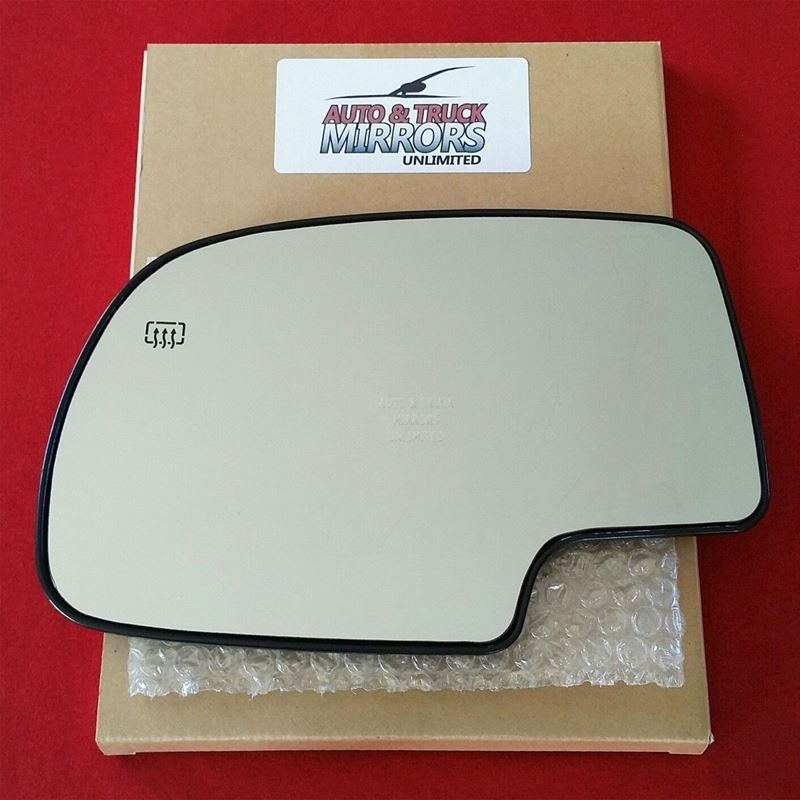 Fits Chevy GMC Driver Side Mirror Glass Heated