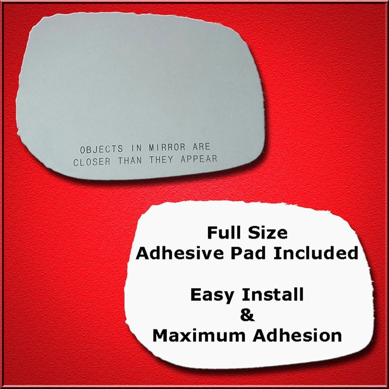 Mirror Glass Replacement + Full Adhesive for 09-13