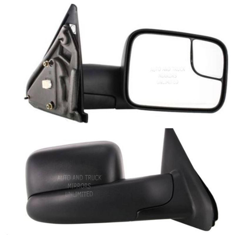 Fits 02-10 Dodge Pickup Passenger Side Mirror Asse